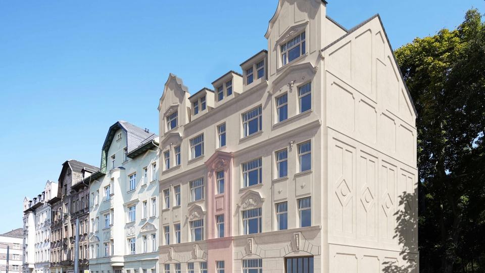 Denkmalobjekt mit zehn Wohnungen im Stadtteil Bernsdorf in Chemnitz